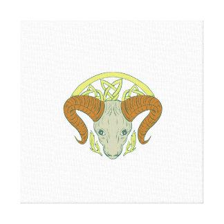 Ram Head Celtic Knot Canvas Print
