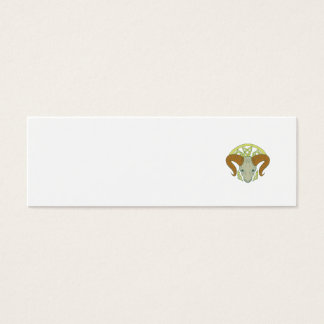 Ram Head Celtic Knot Mini Business Card