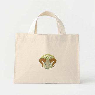Ram Head Celtic Knot Mini Tote Bag