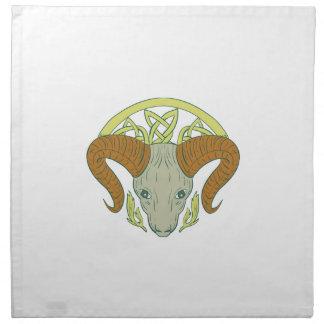 Ram Head Celtic Knot Napkin