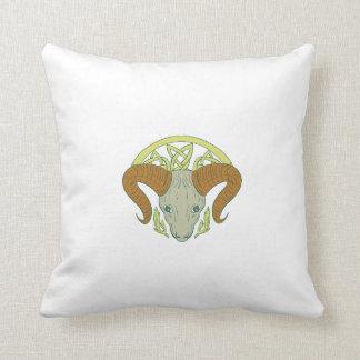 Ram Head Celtic Knot Throw Pillow