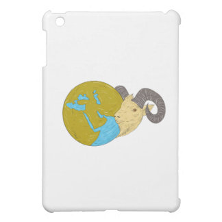 Ram Head Middle East Globe Drawing Case For The iPad Mini