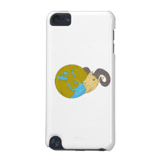 Ram Head Middle East Globe Drawing iPod Touch (5th Generation) Case