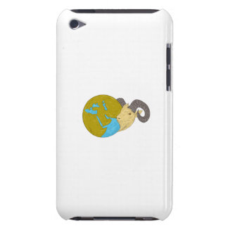 Ram Head Middle East Globe Drawing iPod Touch Case-Mate Case