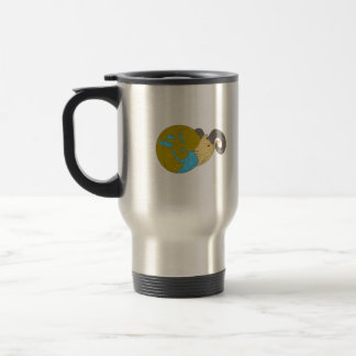 Ram Head Middle East Globe Drawing Travel Mug
