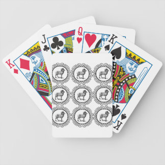 ram in a round bicycle playing cards