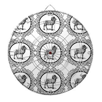 ram in a round dartboard
