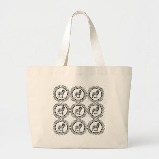 ram in a round large tote bag