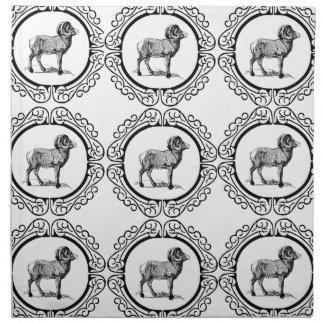 ram in a round napkin