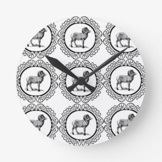 ram in a round round clock