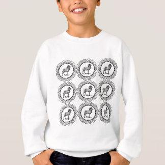 ram in a round sweatshirt