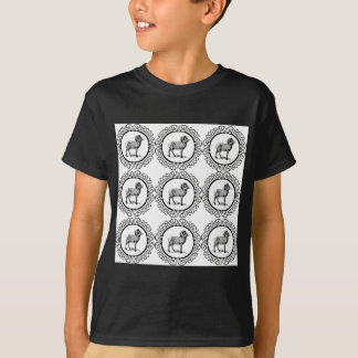 ram in a round T-Shirt
