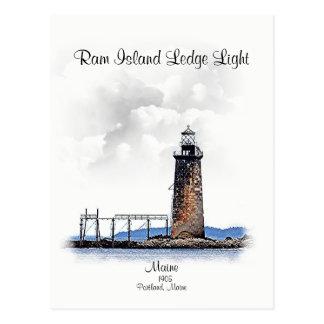 Ram Island Ledge Light-Michigan Postcard