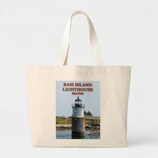 Ram Island Lighthouse, Maine Jumbo Tote Bag