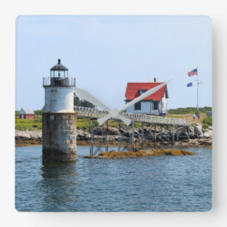 Ram Island Lighthouse, Maine Square Wall Clock