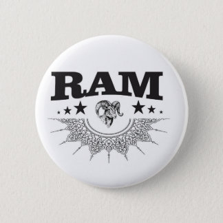 ram of the black star 2 inch round button