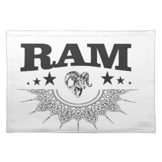 ram of the black star placemat