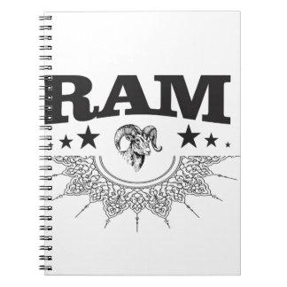 ram of the black star spiral notebook