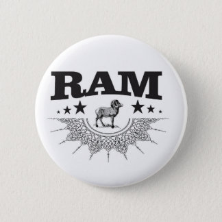 ram of the sheep 2 inch round button