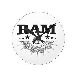 ram of the sheep round clock
