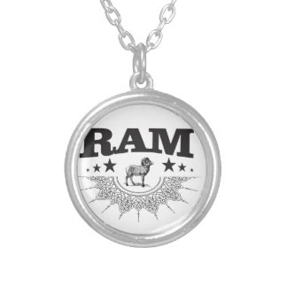 ram of the sheep silver plated necklace