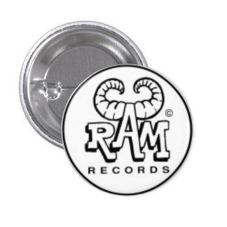 Ram records 1 inch round button
