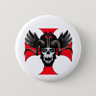 Ram skull 3 tw 2 inch round button