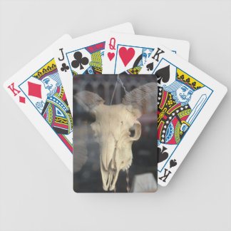 ram skull cool bicycle playing cards