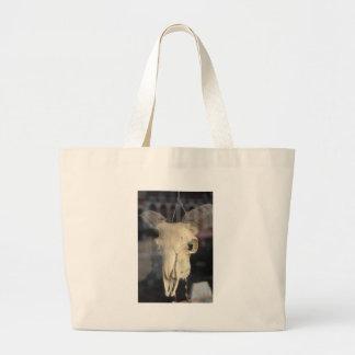 ram skull cool large tote bag