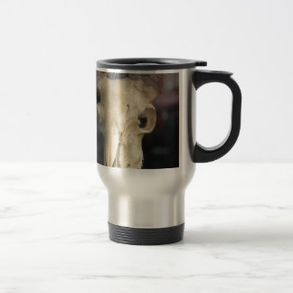 ram skull cool travel mug