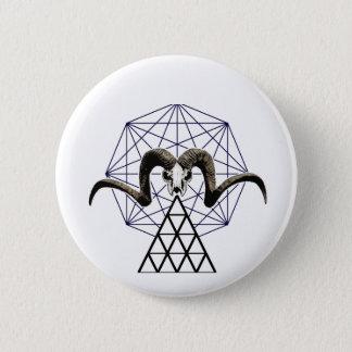 Ram skull sacred geometry 2 inch round button