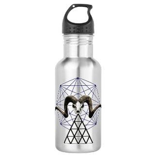 Ram skull sacred geometry 532 ml water bottle