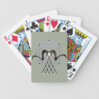 Ram skull sacred geometry bicycle playing cards