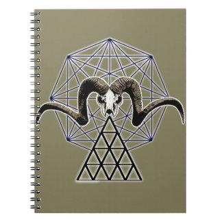 Ram skull sacred geometry notebook