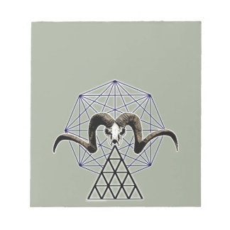 Ram skull sacred geometry notepad