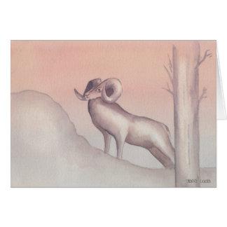 """""""Ram"""" Watercolor Sketch Greeting Card"""