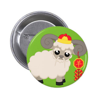 Ram With Firecrackers 2 Inch Round Button