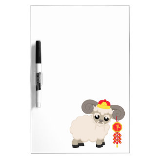 Ram With Firecrackers Dry-Erase Whiteboards