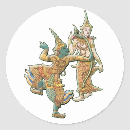 RAMA SITA - RAMAYANA HINDU BUDDHIST GODDESS STICKERS