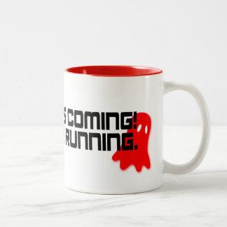 Ramadan is Coming! Shaytan is Running Mug's Two-Tone Coffee Mug