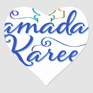 RAMADAN KAREEM . HEART STICKER