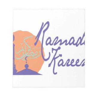 Ramadan Kareem Notepad
