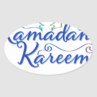RAMADAN KAREEM . OVAL STICKER
