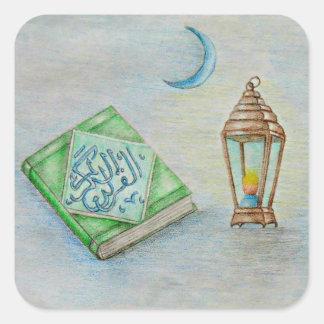 ramadan karim square sticker