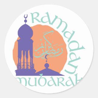 Ramadan Mubarak Classic Round Sticker