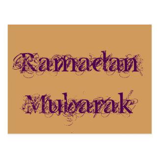 Ramadan Mubarak Postcard