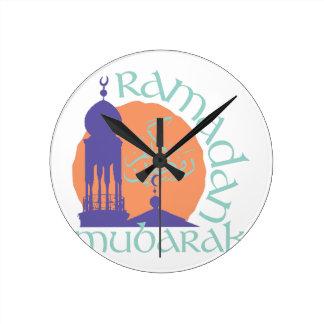 Ramadan Mubarak Round Clock