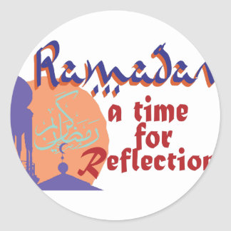 Ramadan Time For Reflection Classic Round Sticker