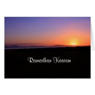 Ramadhan Kareem - Sunrise Card