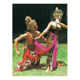 Ramayana Dancers, Hindu traditional dancing, Postcard